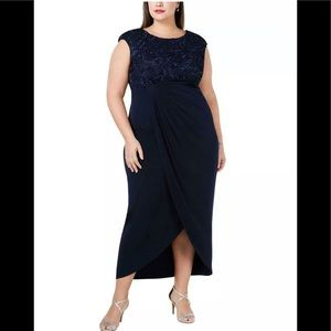 Formal Dress Plus Size 18W Navy Connected Apparel